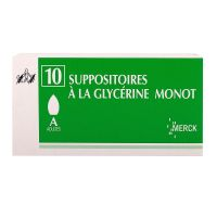 10 suppositoires à la Glycérine Monot
