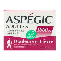 Aspégic adultes 1000 mg 15 sachets