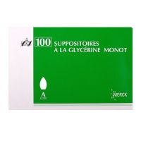 100 suppositoires à la Glycérine Monot