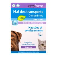 Mal des transports chiens & chats