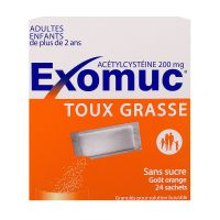 Exomuc 200mg orange 24 sachets