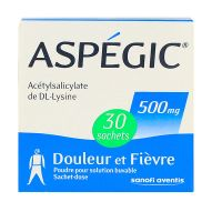 Aspégic adultes 500 mg 30 sachets