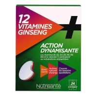 12 vitamines & ginseng action dynamisante 24 comprimés