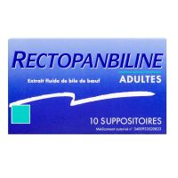 Rectopanbiline 10 suppositoires