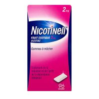 Nicotinell fruit exotique 2mg - 96 gommes