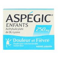 Aspégic 250mg enfant 20 sachets