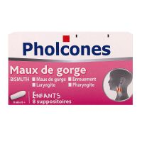 Pholcone Bismuth 8 suppositoires enfant