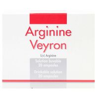 Arginine veyron solution buvable 20 ampoules