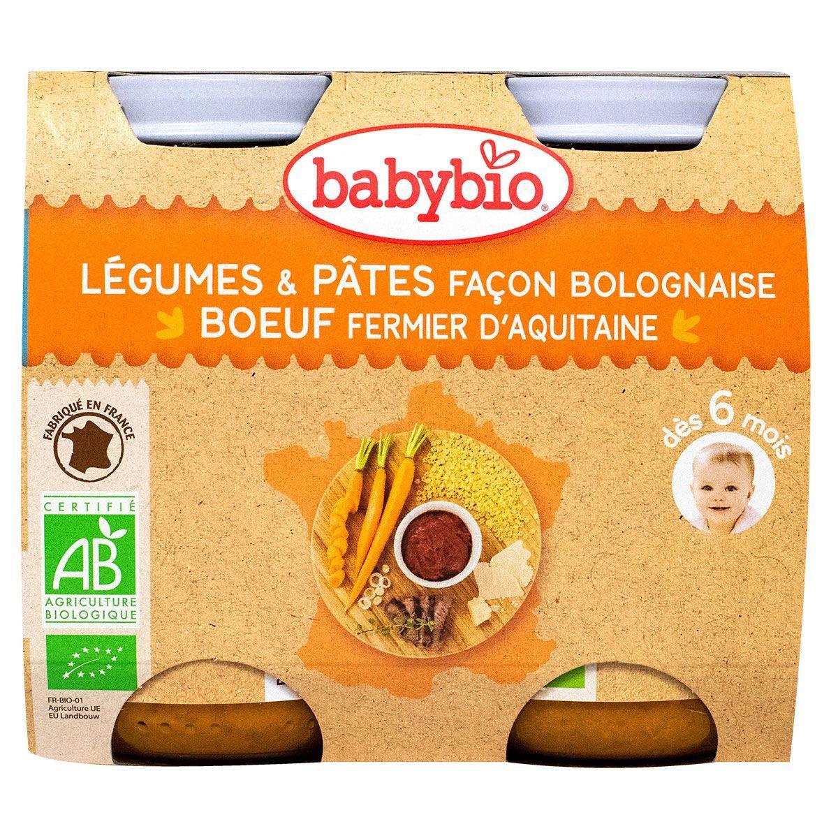 Initier Bébé Au Pot petit pot légumes pâtes façon bolo & bœuf 2x200g